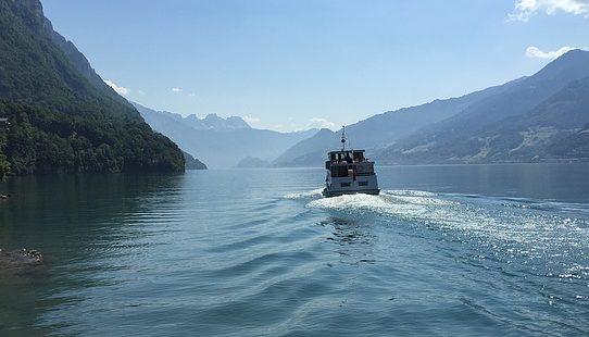 Anreise Schiff, Walensee-Bühne