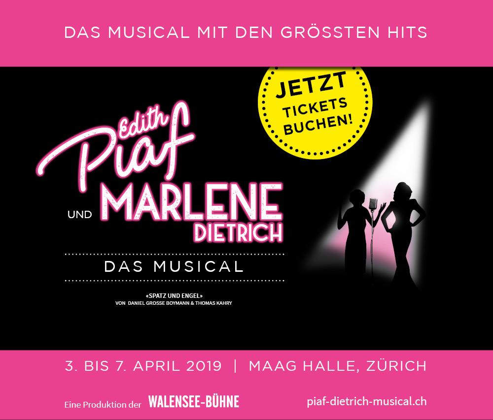 Edith Piaf und Marlene Dietrich - Das Musical - MAAG Halle, Zürich. Jetzt Tickets bestellen