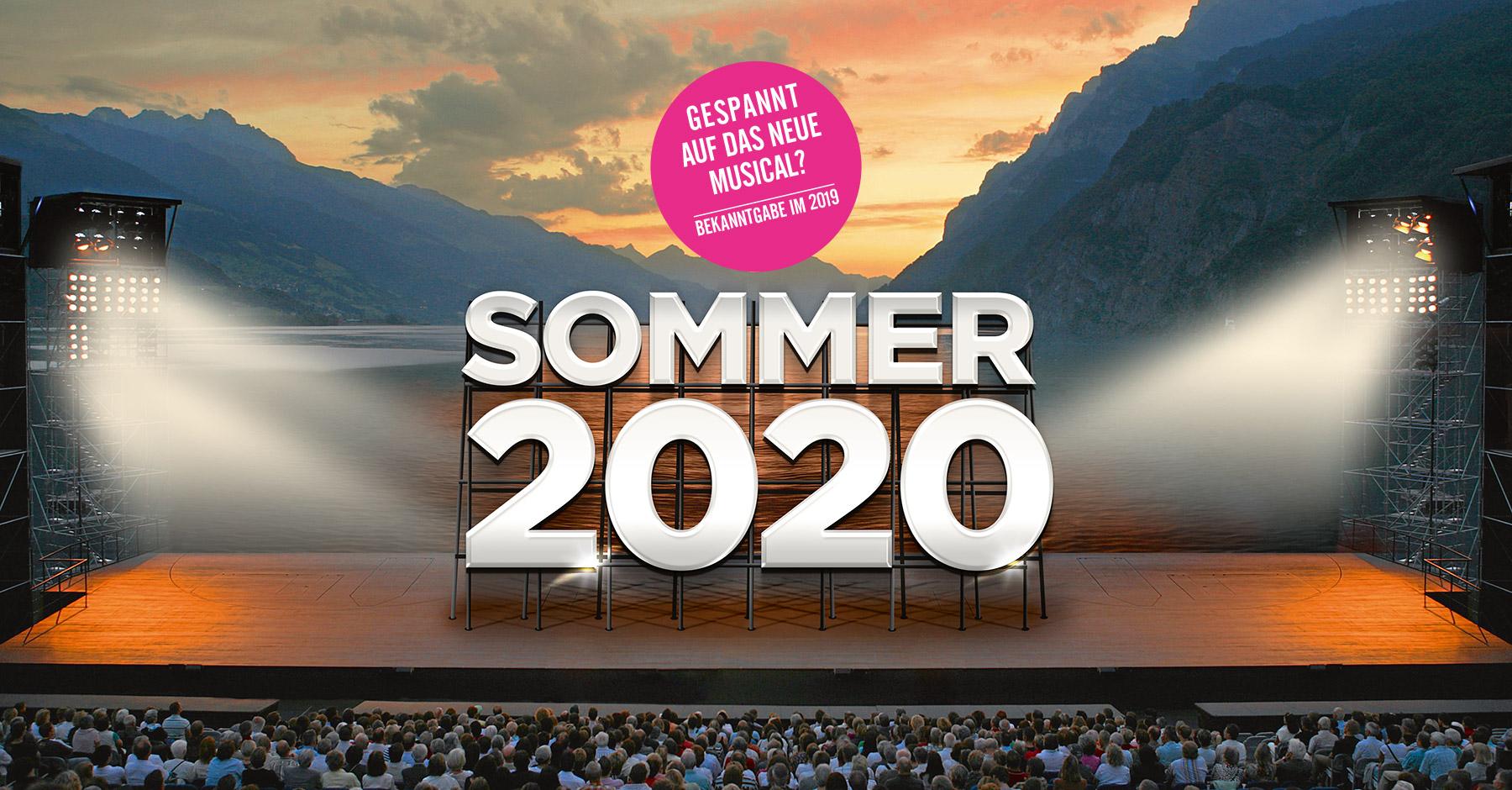 Walensee-Bühne Musicals - Vorankündigung 2020